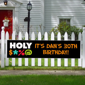 Personalized Holy Bleep Milestone 5 Ft. Banner