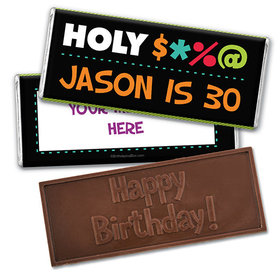 Personalized Birthday Bleep Embossed Happy Birthday Chocolate Bar