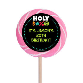 """Holy Bleep Milestone Personalized 3"""" Lollipops (12 Pack)"""