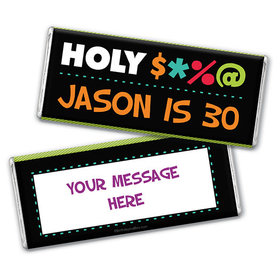 Personalized Birthday Bleep Chocolate Bar Wrappers