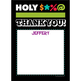 Holy Bleep Milestone Personalized Thank You Note