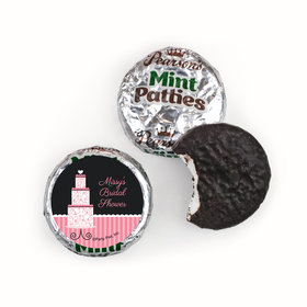 Personalized Bridal Shower Pink Cake Pearson's Mint Patties