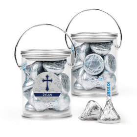 Personalized Boy Confirmation Favor Assembled Paint Can Filled with Hershey's Kisses