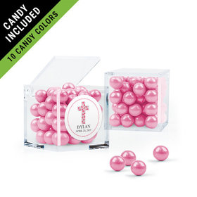 Personalized Girl Confirmation Favor Assembled Small Box Filled with Sixlets