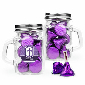 Personalized Girl Confirmation Favor Assembled Mini Mason Mug Filled with Hershey's Kisses