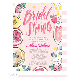 Bonnie Marcus Collection Personalized Watercolor Bridal Shower Brunch Invitation