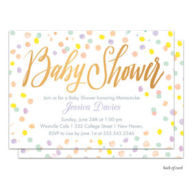 Bonnie Marcus Collection Personalized Confetti Fun Invitation