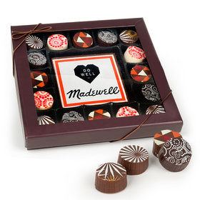 Personalized Add Your Logo Gourmet Belgian Chocolate Truffle Gift Box (17 pieces)