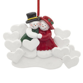 Snow Couple with 10 Hearts