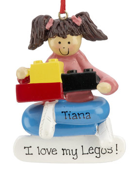 Personalized Building Blocks Girl