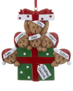 Personalized Bear Present Family of 6