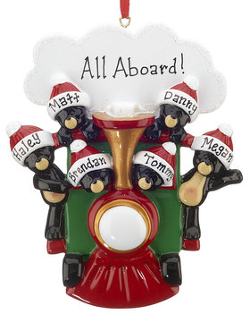 Personalized All Aboard Train Family of 6