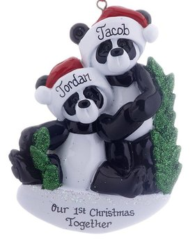 Personalized Panda Bear Couple