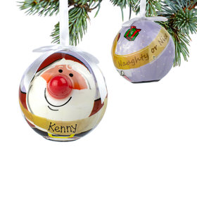 Personalized Blinking Nose Santa