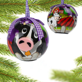 Personalized Blinking Nose Cow