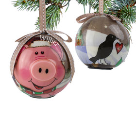 Personalized Blinking Nose Pig