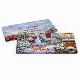 Deluxe Personalized Christmas Silent Night Lane Chocolate Bar in Gift Box