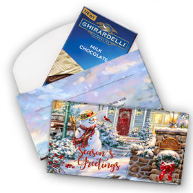 Deluxe Personalized Christmas Silent Night Lane Ghirardelli Chocolate Bar in Gift Box