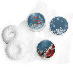 Personalized Life Savers Mints - Christmas Starry Night Santa