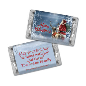 Personalized Hershey's Miniatures - Christmas Starry Night Santa