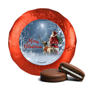 Christmas Chocolate Covered Oreos - Starry Night Santa