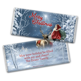 Personalized Chocolate Bar Wrappers Only - Christmas Starry Night Santa