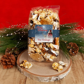 Personalized Christmas Starry Night Santa Trendy Trash Popcorn 8 oz Bags