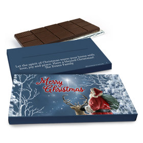 Deluxe Personalized Christmas Silent Night Santa Chocolate Bar in Gift Box (3oz Bar)