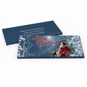 Deluxe Personalized Christmas Silent Night Santa Chocolate Bar in Gift Box