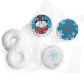 Personalized Life Savers Mints - Christmas Jolly Snowman