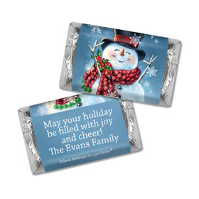 Personalized Hershey's Miniatures - Christmas Jolly Snowman