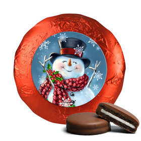 Christmas Chocolate Covered Oreos - Jolly Snowman
