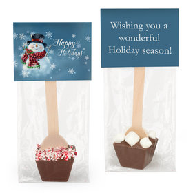 Happy Holidays Snowman Hot Chocolate Spoon