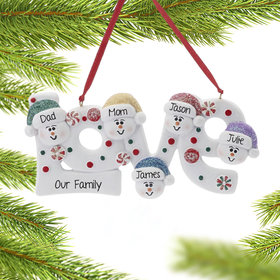 Personalized Love Word Family of 5
