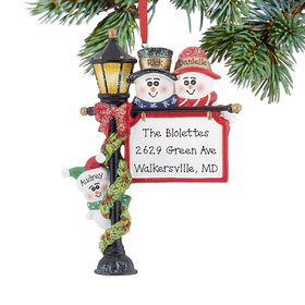 Personalized Lamppost Family of 3