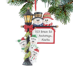 Personalized Lamppost Family of 5