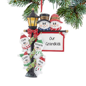 Personalized Lamppost Family of 6