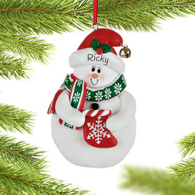 Personalized Snowman with Stocking