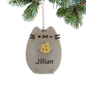 Personalized Pusheen Cat with Chocolate Chip Cookie
