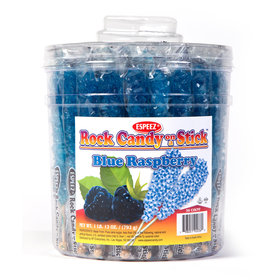 Blue Raspberry Rock Candy on a Stick (36 Pack)