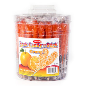 Orange Rock Candy on a Stick (36 Pack)
