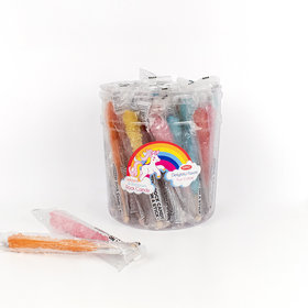 Unicorn & Rainbow Rock Candy on a Stick (36 Pack)