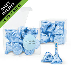 Personalized Boy First Communion Favor Assembled Clear Box Filled with Hershey's Kisses