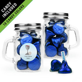 Personalized Boy First Communion Favor Assembled Mini Mason Mug Filled with Hershey's Kisses