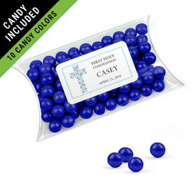 Personalized Boy First Communion Favor Assembled Pillow Box Filled with Sixlets