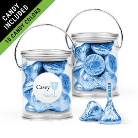 Personalized Boy First Communion Favor Assembled Paint Can Filled with Hershey's Kisses