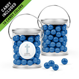 Personalized Boy First Communion Favor Assembled Paint Can Filled with Sixlets