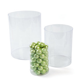 Plastic Clear Candy Cylinders 6pk