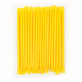 Yellow Banana Candy Straws