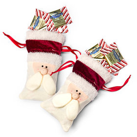 Santa Bag with Ghirardelli Peppermint Bark Squares